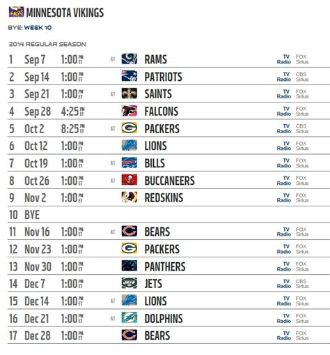 printable vikings schedule 2015 search results for vikings football schedule 2015