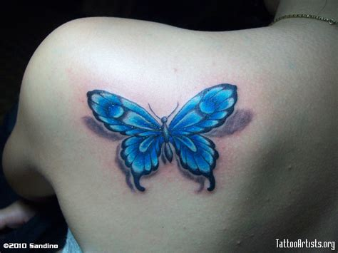 blue butterfly tattoo blue butterfly