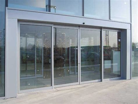 sliding glass door opening automatic sliding entrance glass door clear width
