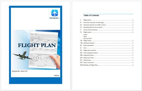 flight plan template flight plan template