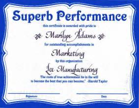 Award certificates certificate templates outstanding performance