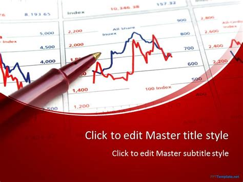 template ppt finance free free 3d bar chart ppt template