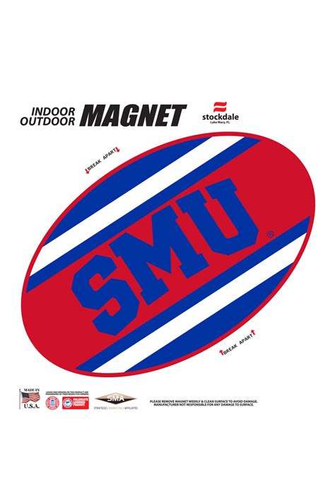 smu colors smu mustangs team color magnet 16371104