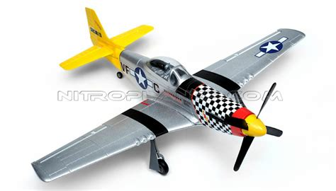 2 4ghz 4 Channel Plane R C Blue new tech p 51d mustang 4ch brushless arf remote