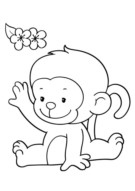 coloring pages of baby monkeys m for monkey coloring page print monkey coloring pages
