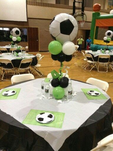 Soccer Balloons Pinterest Soccer Party Soccer Soccer Banquet Centerpiece Ideas