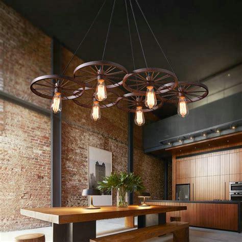 design by yourself industrial pendant light with 20 keys lovely design american industrial vintage bike wheel