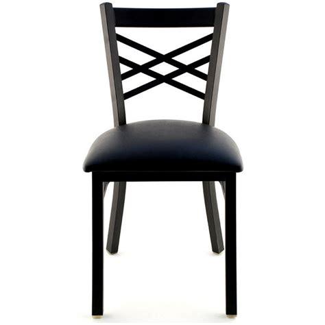 X Back x back metal restaurant chair