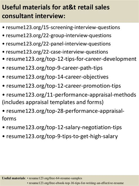 At And T Sales by Top 8 At T Retail Sales Consultant Resume Sles