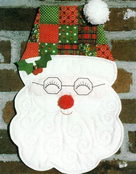 Patchwork Santa - patchwork santa claus sew pattern door wall hanging 16