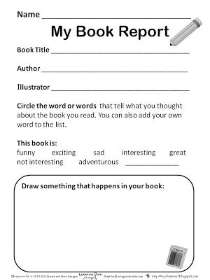 learn and grow designs website book report freebies for