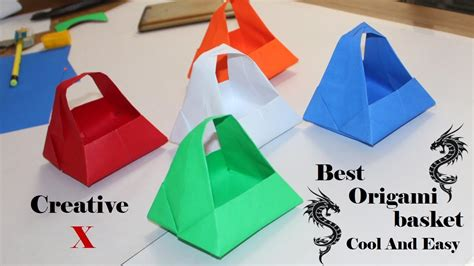 How To Make Paper Basket Origami - origami paper basket how to make easy paper basket for