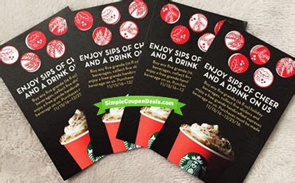 Starbucks Gift Card Free Drink - hot get 4 free starbucks drinks run simple coupon deals