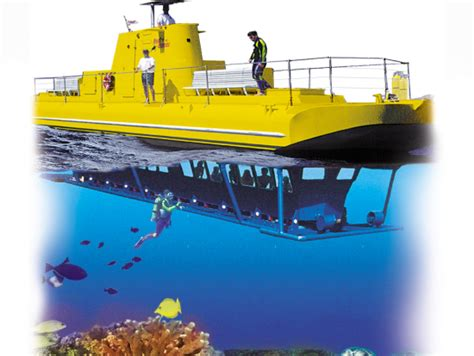 hawaii glass bottom boat semi submersible glass bottom boat reef adventure from