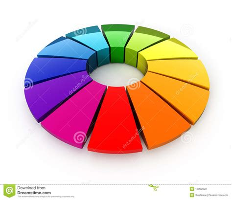3d color 3d color wheel stock illustration image of isolated