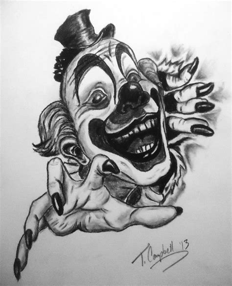 clown tattoo by unibody on deviantart clown tattoo by phoenyxx782 on deviantart