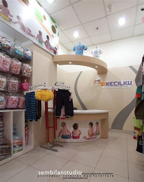 layout toko pakaian bayi interior desain toko baju anak di lahan sewa