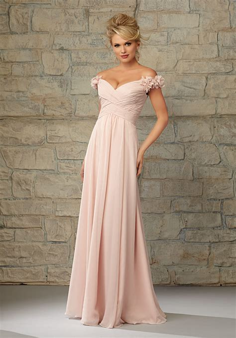 Dress Princess X Luxe luxe chiffon morilee bridesmaid dress with ruffled the shoulder cap sleeves style 20453