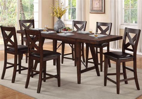 espresso dining table with leaf espresso counter height table with leaf