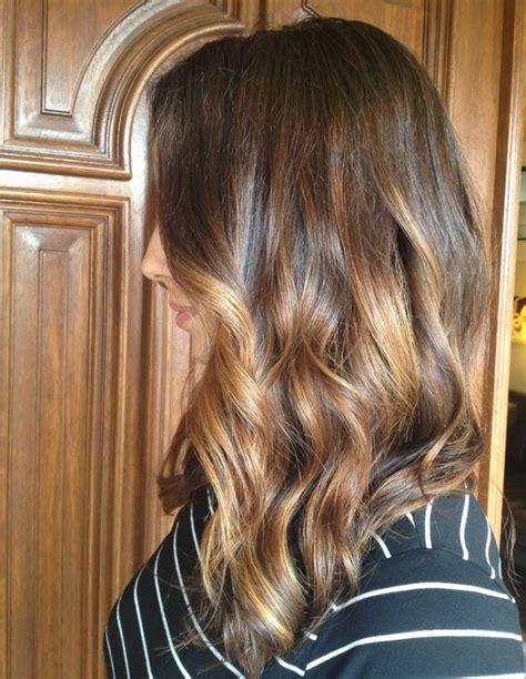 medium length balayage highlights slightly a lined medium length haircut with face framing