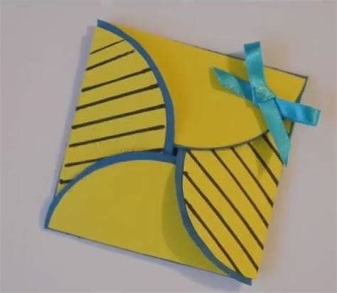 Easy Birthday Origami - simple origami card allfreepapercrafts