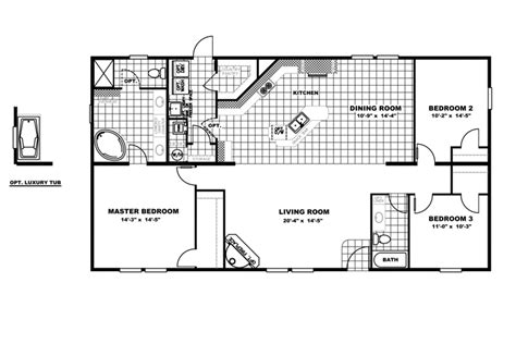 Clayton Homes Floor Plans Prices | 2 baths