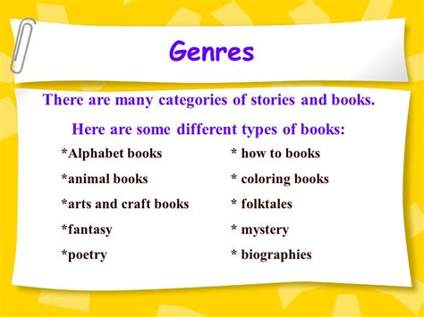 different types of picture books genres in literature there are many different kinds of