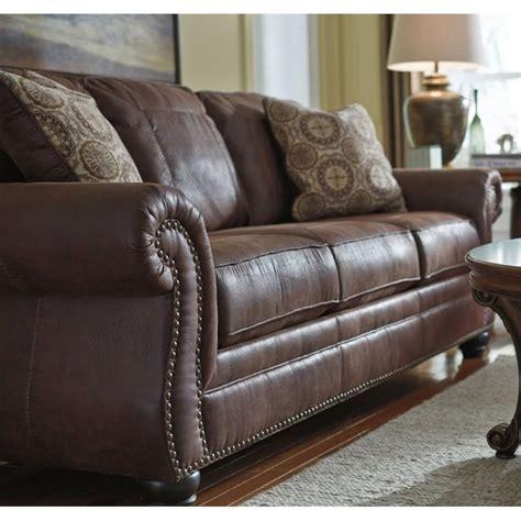 ashley faux leather sofa ashley breville faux leather sofa in espresso 8000338