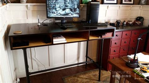 37 diy standing desks built with pipe and kee kl