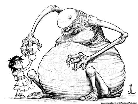 true stories of macabre monstrous creatures monstrous monsters books apple 3 inks by jeremiahlambertart on deviantart