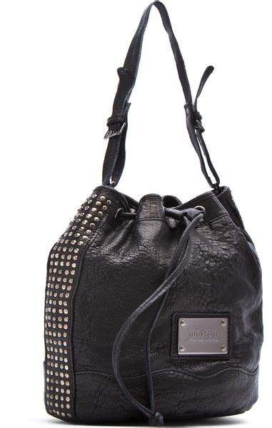 Mango Touch Bag mango touch bag stud embellishment in black 02 lyst