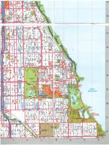 Chicago Streets Map by Street Map Of Chicago Images