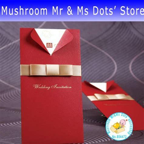 Wedding Invitation Cards Creative by 100 Pieces Lot Sale Creative Wedding Invitation Card