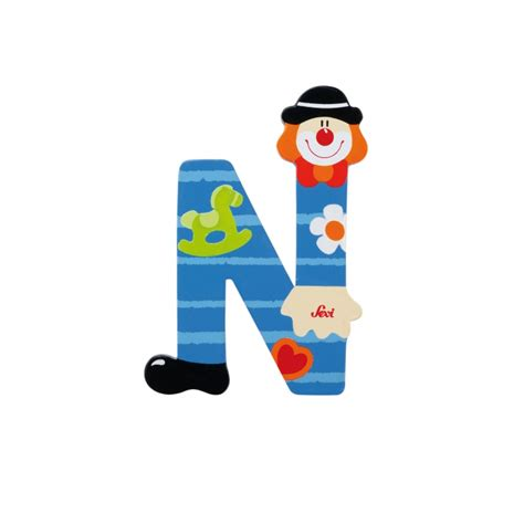 lettre d 233 corative en bois clown n bleu sevi d 233 coration bois