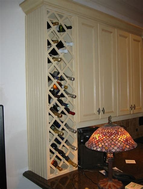 built in cabinet wine racks end of cabinet built in wine rack could leave bottom open