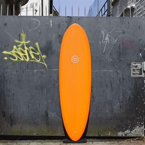 Handmade Surfboard Fins - watershed single fin surfboard resin tint orange