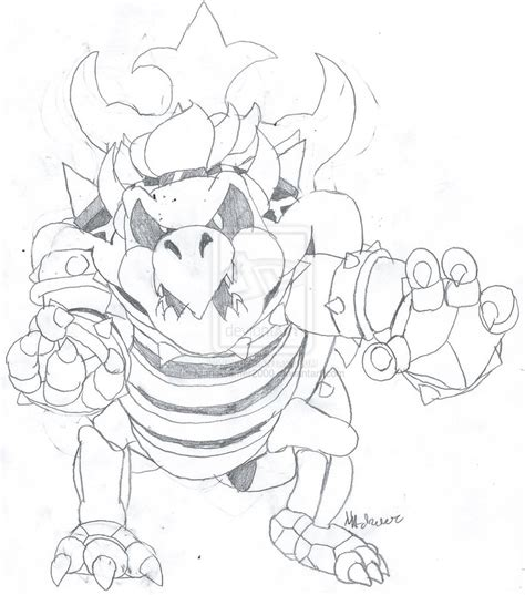 giga bowser coloring pages coloring pages