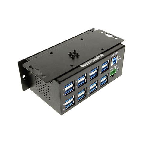 16 usb hub 16 usb 3 1 gen1 metal hub w 15kv esd surge protection