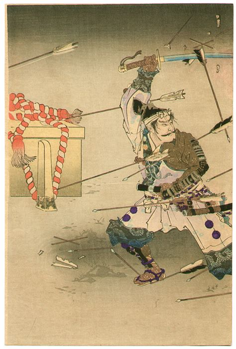 japanese prints ukiyo e in 0714124532 unknown samurai in hail of arrows artelino ukiyo e search