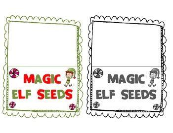 Elf On The Shelf Magic Seeds Printable   elf on the shelf fun magic elf seeds kinderland ho ho