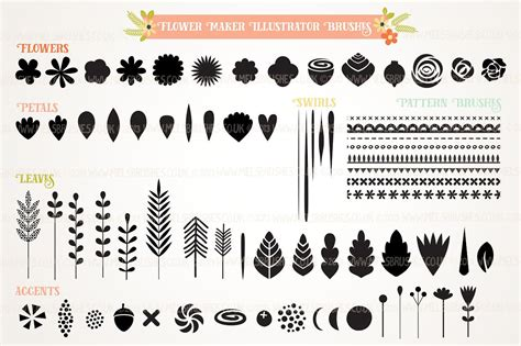 flower creator illustrator brush set brushes creative