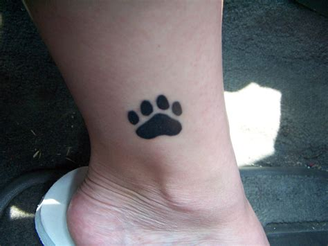 small paw print tattoos paw print tattoos designs ideas and meaning tattoos for you
