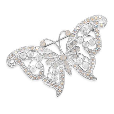 Bros Butterfly Swarosky butterfly fashion pin with swarovski crystals pins brooches