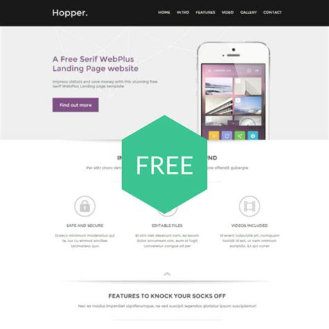 Free Serif Templates website templates from the serif template store template