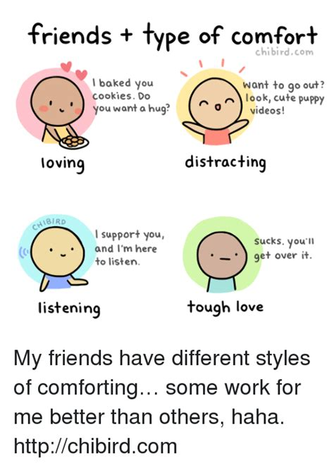 types of comfort friends type of comfort chibirdcom baked you cookies do