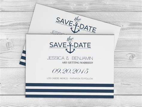 Nautical Save The Date Template Nautical Save The Date Template Editable Pdf