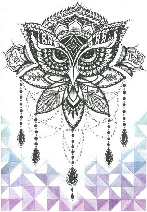 tattoo mandala owl 146 best owl tattoo images on pinterest design tattoos