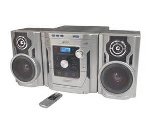 gpx hm1836 3 cd home system with am fm stereo qvc