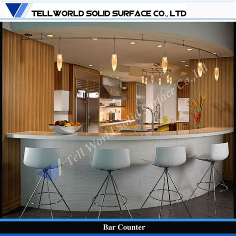 Small Curved Home Bar Modern Design Small Home Bar Counter Curved Bar Counter