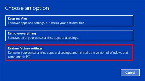 resetting windows back to factory settings backup files programs before factory reset windows 10 pc